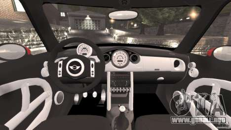 Mini Cooper S v1.3 para GTA 4 vista hacia atrás