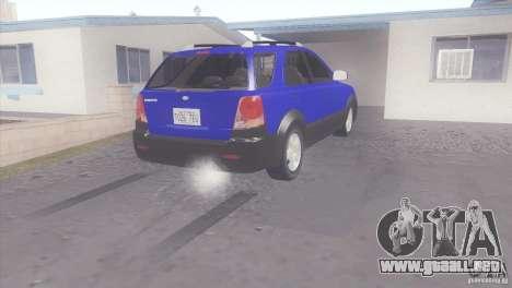 Kia Sorento para GTA San Andreas vista posterior izquierda