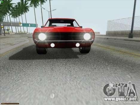 Chevrolet Camaro 1969 para GTA San Andreas interior