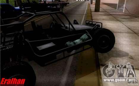 Desert Patrol Vehicle para GTA San Andreas vista hacia atrás