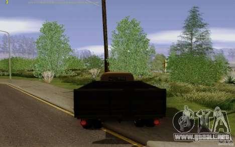 GAZ 51 para GTA San Andreas vista posterior izquierda