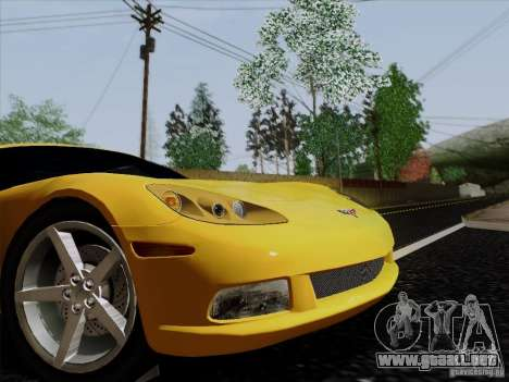 Chevrolet Corvette Z51 para GTA San Andreas vista posterior izquierda