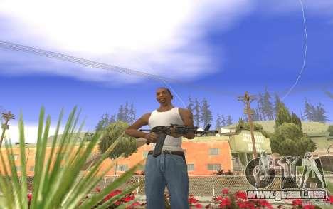 AK 101 para GTA San Andreas segunda pantalla