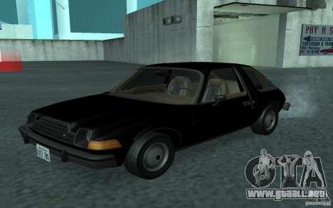 AMC Pacer para visión interna GTA San Andreas