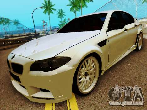BMW M5 F10 HAMANN para GTA San Andreas left