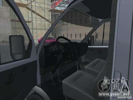 Gacela 2705 Gruzopasažirskaâ para visión interna GTA San Andreas