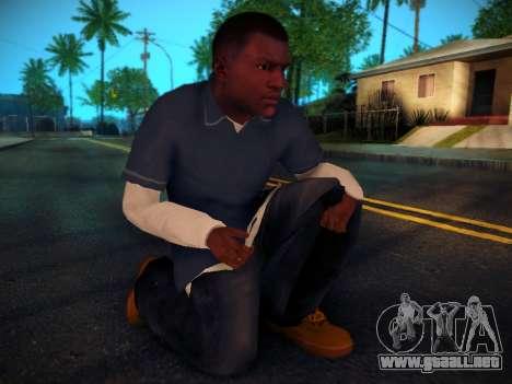 Franklin para GTA San Andreas quinta pantalla