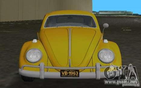 Volkswagen Beetle 1963 para GTA Vice City vista posterior