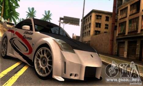 Nissan 350Z Tunable para la visión correcta GTA San Andreas