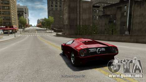 Velocidad del vehículo para GTA 4 tercera pantalla