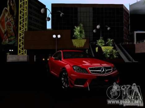 Mercedes-Benz C63 AMG 2012 Black Series para visión interna GTA San Andreas