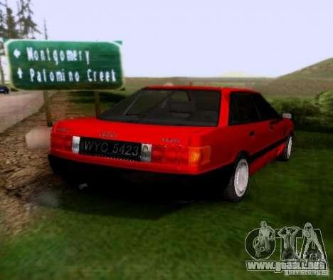 Audi 80 B3 para GTA San Andreas vista posterior izquierda