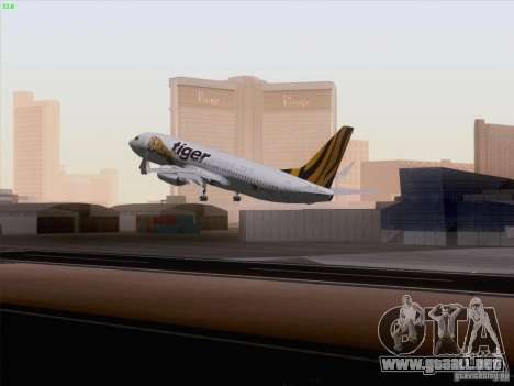 Boeing 737-800 Tiger Airways para GTA San Andreas left