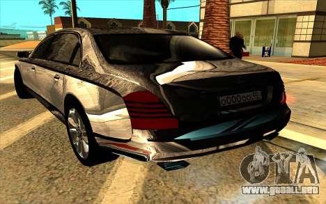 Maybach 62 para la vista superior GTA San Andreas