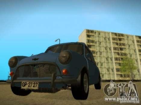Mini Cooper 1965 para GTA San Andreas vista hacia atrás
