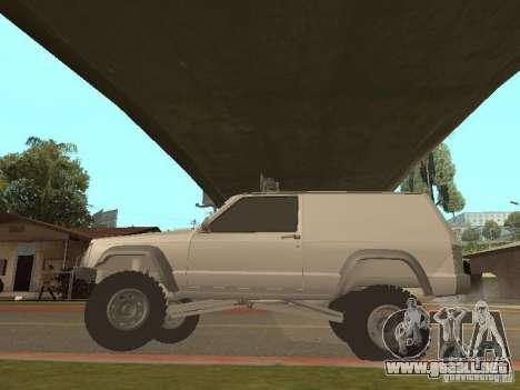 Jeep Cherokee 1984 v.2 para GTA San Andreas vista hacia atrás