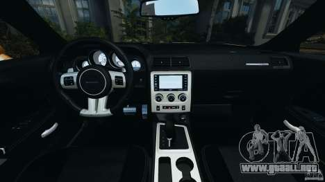 Dodge Challenger SRT8 392 2012 [EPM] para GTA 4 vista hacia atrás