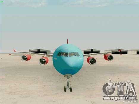 Airbus A-340-600 Plummet para GTA San Andreas vista hacia atrás