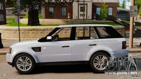 Land Rover Range Rover Sport Supercharged 2010 para GTA 4 left