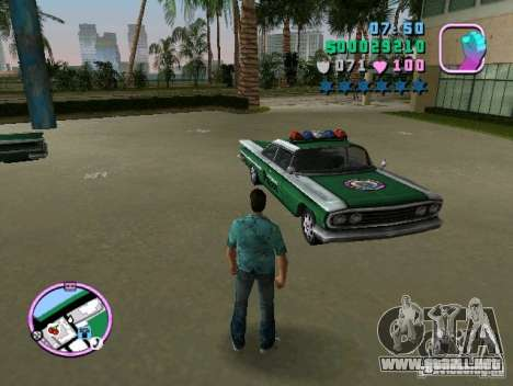 Voodoo Police para GTA Vice City vista lateral izquierdo