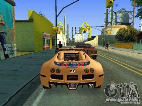 Bugatti Veyron Indonesian Police para la visión correcta GTA San Andreas