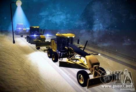 Caterpillar 140AWD Motorgrader para GTA San Andreas vista hacia atrás