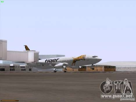 Boeing 737-800 Tiger Airways para la vista superior GTA San Andreas