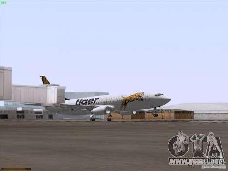 Boeing 737-800 Tiger Airways para la vista superior GTA San Andreas