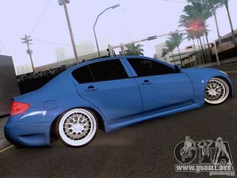 Infiniti G37 Sedan para GTA San Andreas interior