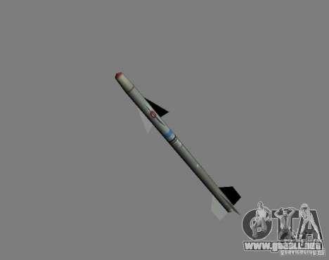 Cohete para GTA San Andreas segunda pantalla