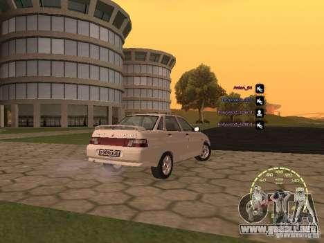 Velocímetro Lada Priora para GTA San Andreas quinta pantalla