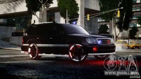 Toyota Land Cruiser 100 para GTA 4 left