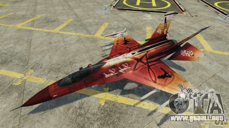 Fighterjet para GTA 4 vista lateral