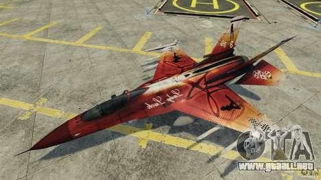 Fighterjet para GTA 4 vista lateral