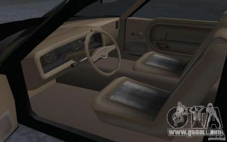 AMC Pacer para GTA San Andreas vista posterior izquierda
