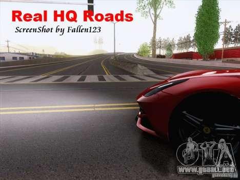 Real HQ Roads para GTA San Andreas