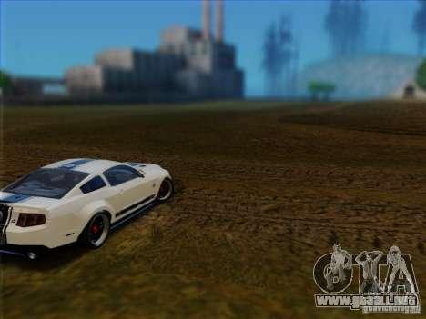 Ford Shelby GT500 SuperSnake NFS The Run Edition para GTA San Andreas vista posterior izquierda