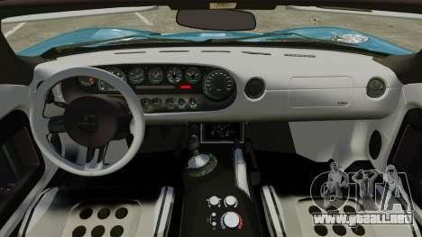 Ford GTX1 2006 para GTA 4 vista interior
