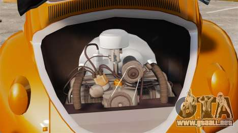 Volkswagen Fusca Edit para GTA 4 vista hacia atrás