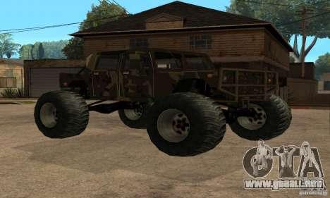 Monster Patriot para GTA San Andreas vista hacia atrás