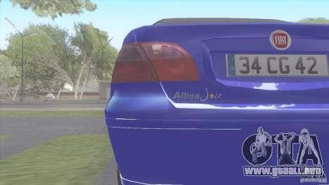 Fiat Albea Sole para GTA San Andreas vista posterior izquierda