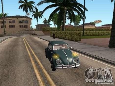 Volkswagen Beetle para GTA San Andreas vista hacia atrás