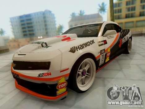 Chevrolet Camaro Hankook Tire para GTA San Andreas vista hacia atrás