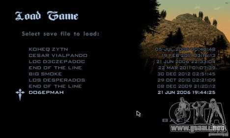 Parche para el GTA San Andres vapor V 3.00 para GTA San Andreas tercera pantalla