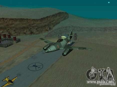 Messerschmitt Me262 para GTA San Andreas vista hacia atrás