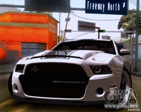 Ford Shelby GT500 Super Snake para GTA San Andreas vista posterior izquierda