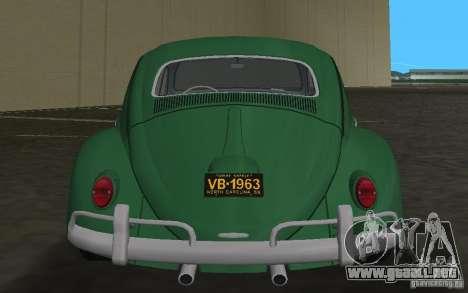 Volkswagen Beetle 1963 para GTA Vice City vista superior