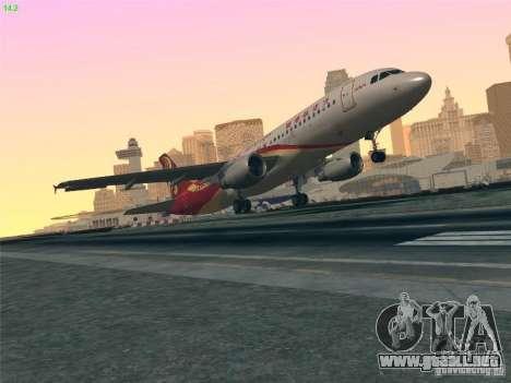 Airbus A320-214 Hong Kong Airlines para la vista superior GTA San Andreas