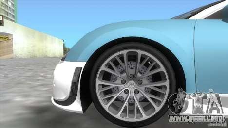 Bugatti ExtremeVeyron para GTA Vice City visión correcta