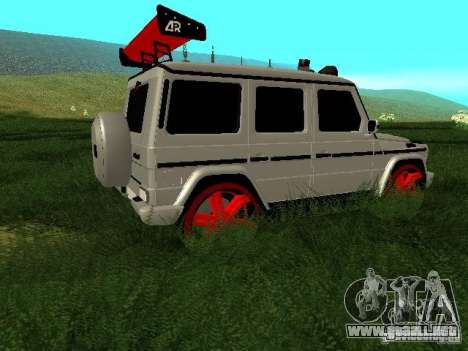 Mercedes-Benz G500 para vista inferior GTA San Andreas